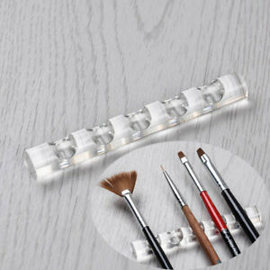 Newly-Clear-Crystal-Nail-Art-Tool-Brush-Rack-Acrylic-Nails-Pen-Stand-Holder-1pcs