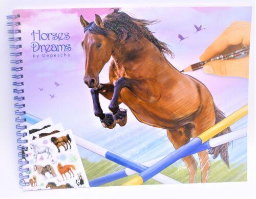 Depesche 10295  A Horses Dreams Pferde Malbuch Sticker Malheft Zeichnen