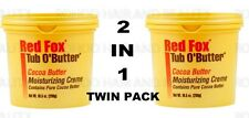 2 X Red Fox Tub O' Butter Cocoa Moisturising Cream 298g EACH