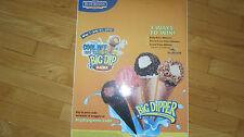 BIG DIPPER CONE Vinyl Decal Sticker,Ice Cream Truck Water Ice Van BLUE BUNNY #1