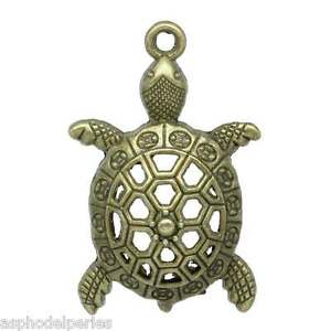 2 breloques tortue couleur bronze 39 x 25 mm xqF7q5Is-09170357-798123408