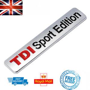 TDI-SPORT-EDITION-Boot-Badge-3D-Silver-Sticker-Emblem-VW-Skoda-SEAT-AUDI-A3-TT