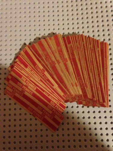 Nickel /& Pennys  Pop-Open Flat Paper Coin Wrapper Tubes 400 New Quarter Dime
