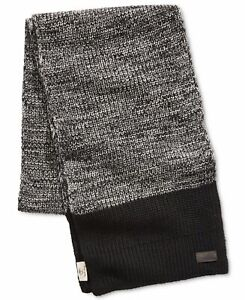 Timberland Mens Scarf Black Gray One Size Colorblock Heat Retention $58 #065