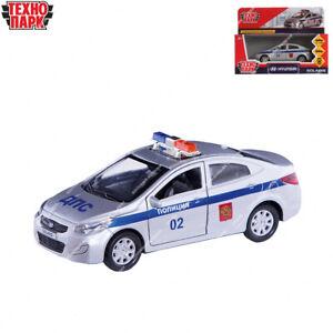 Tehnopark Diecast véhicules police Hyundai Solaris russe jouet voitures 12 cm