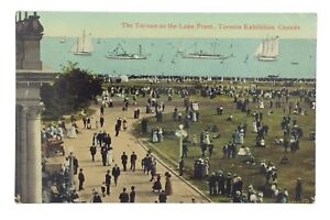 Terrace-Lake-Front-Toronto-Ontario-Canada-Unposted-Written-On-Postcard-E564