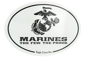 U.S. Marines USMC Logo USA Military Oval Car Refrigerator Magnet