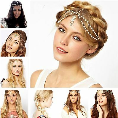 Gypsy festival Tassels Metal Head Chain Headpiece Hair Band Headband Headdress