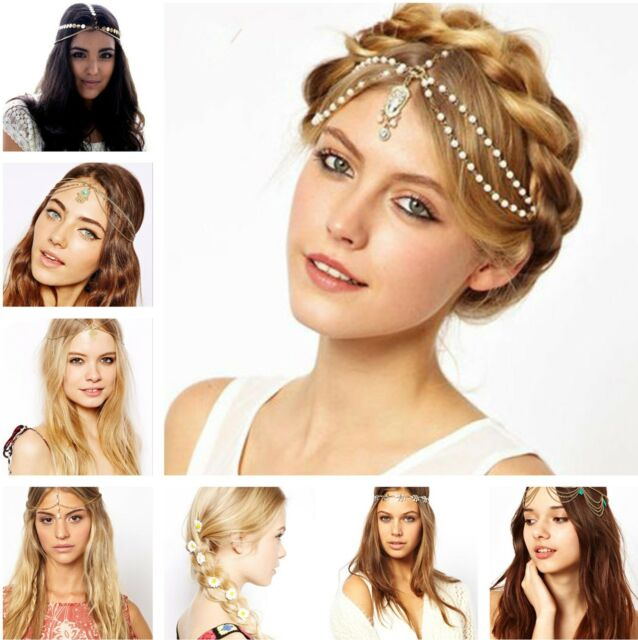 Gypsy festival Tassels Metal Head Chain Headpiece Hair Band Headband Headdress