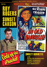 IN OLD AMARILLO - CODE OF PRAIRIE - ROY ROGERS, SUNSET CARSON  REPUBLIC DVD
