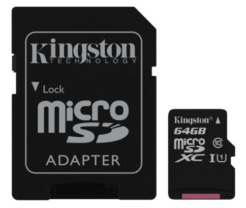 64GB Tarjeta de memoria KINGSTON Micro SD XC Para Cámara Digital Samsung NX2000
