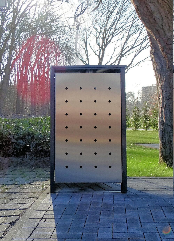 1 contenitore per elegante design no. 1 per 240 LITRI-BIDONE Antracite acciaio inox