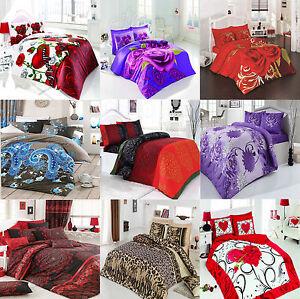 5 Teilige Bettwäschegarnitur 200x220 Bettwäsche Bettbezug Ebay