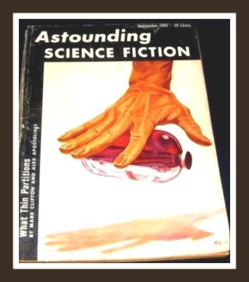 ASTOUNDING SCIENCE FICTION   Sept 1953 Pulp Digest Magazine Daniel Whitton.