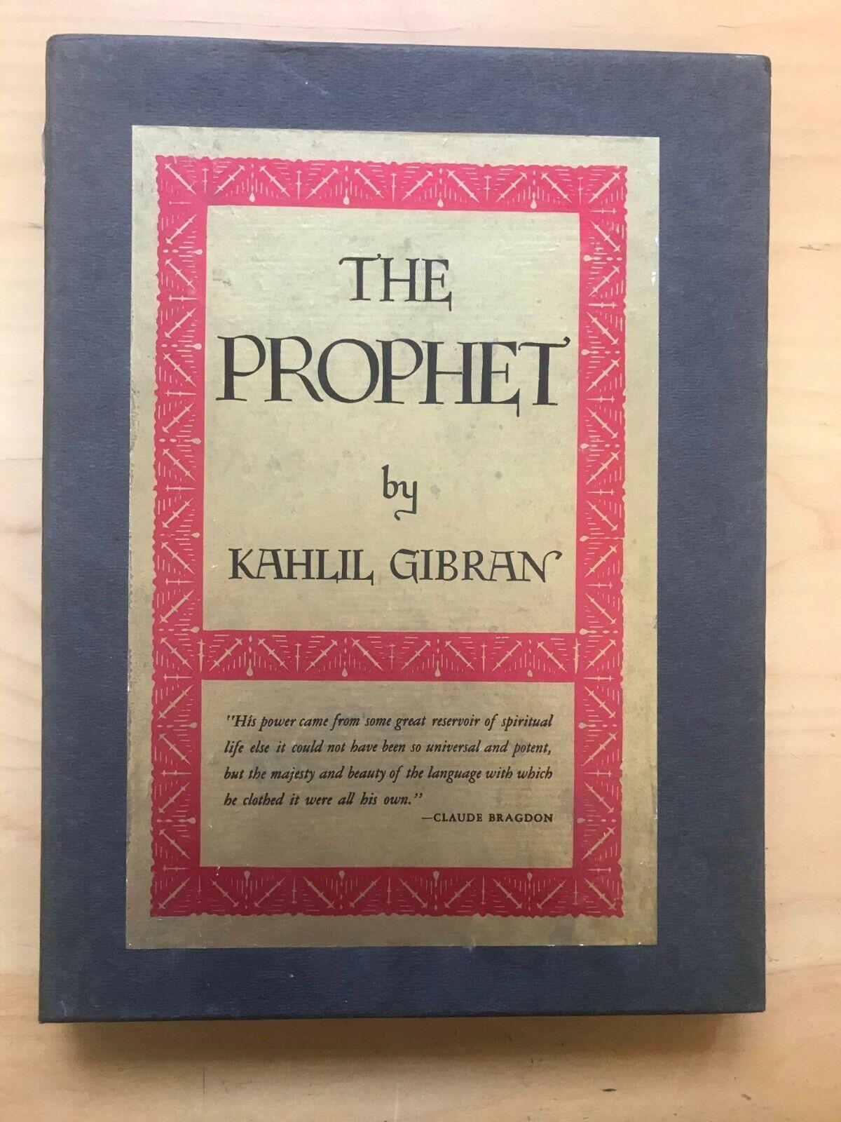 The Prophet By Kahlil Gibran 1952 Hardcover Deluxe For Sale Online Ebay