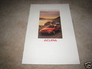Integra Legend Coupe 1988 Acura 14-page Original Car Sales Brochure Catalog