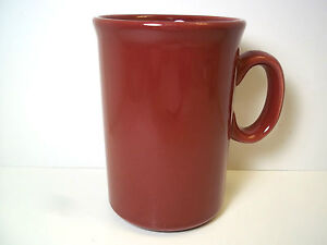 Burgundy Maroon Hg Ceramic Coffee Mug 4 5 Tall 9 Oz Ebay