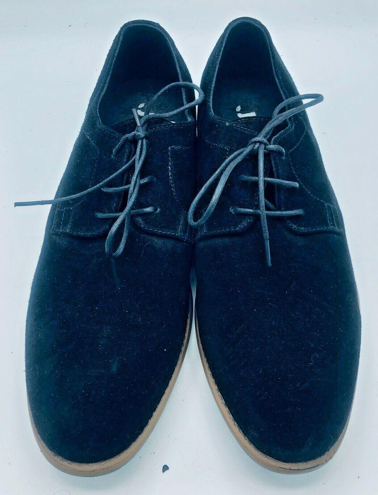 J75 by Jump Marconi Men's Classic Oxford Shoe Deep Black Size 14 Suede Lace Up