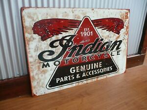 Indian-Motorcycles-sign-Parts-And-Accessories-Metal-Mancave-bar-Garage-Bike