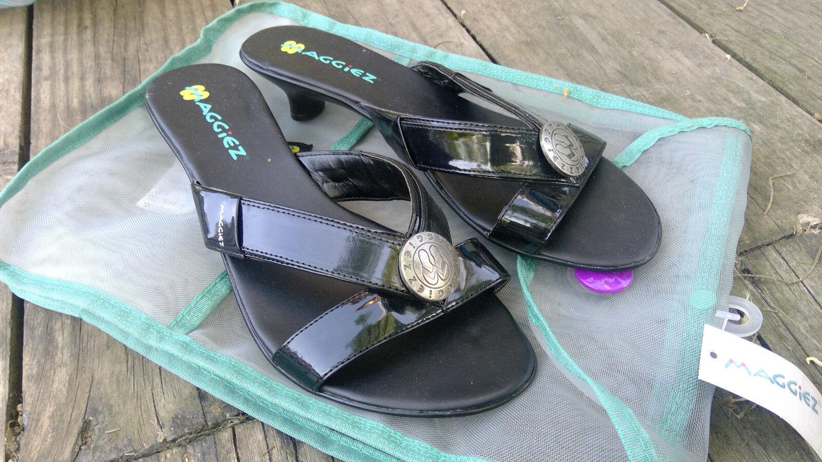 Maggiez CUSTOMIZABLE Heeled Dress Flip-Flop Sandal 7M | Kittenz Black | 7M Sandal 8M 9M 50a71d