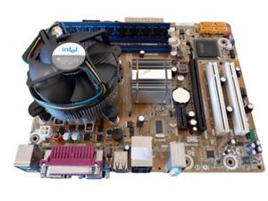 INTEL-DG41WV-Core-2-Duo-E8400-4GB-DDR3-CPU-Fan-Ram-Paquete-combinado-de-placa-madre