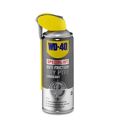 WD-40 44395 Specialist Anti Friction Dry PTFE Lubricant 400ml Smart Straw Garage