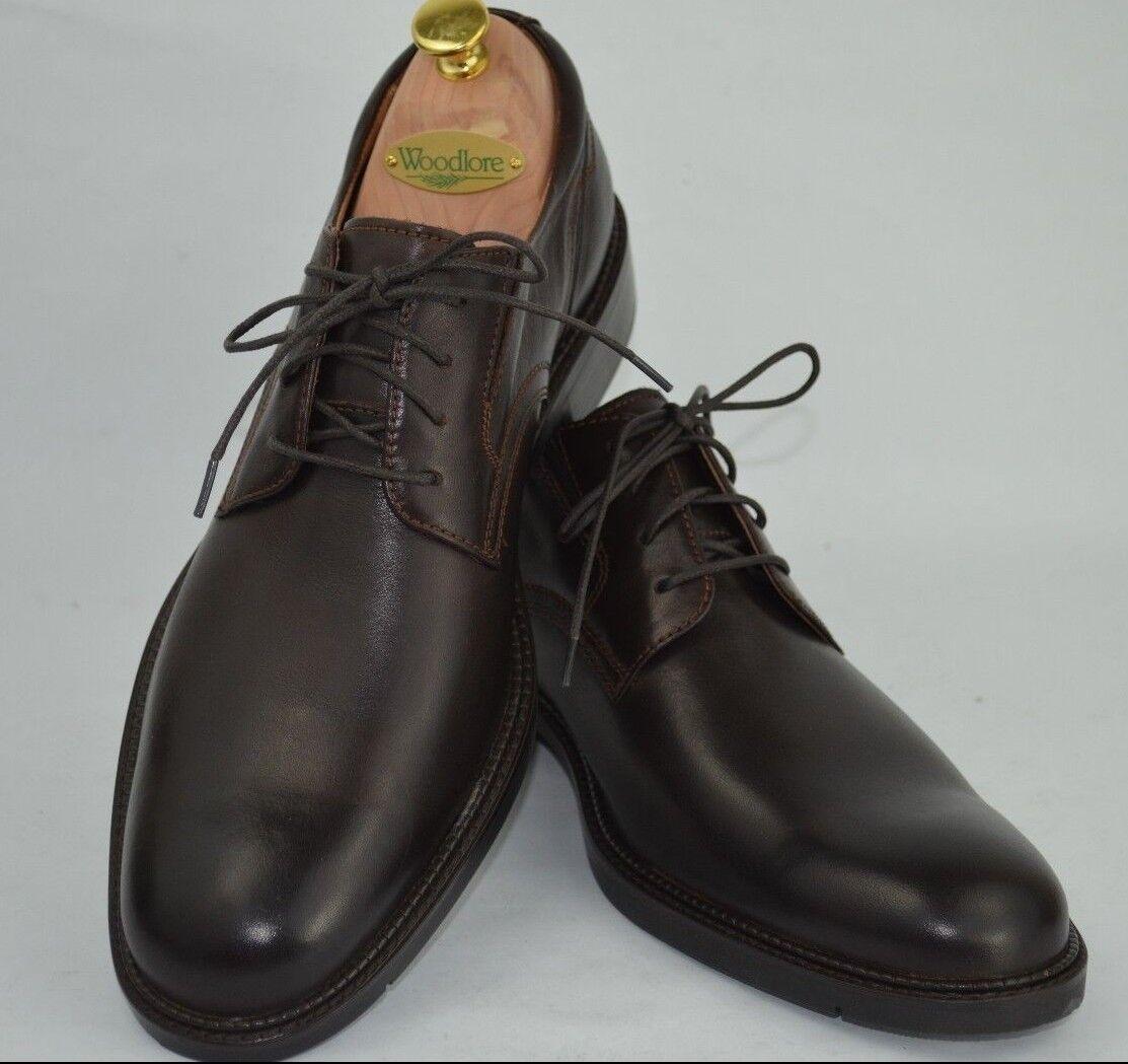 Johnston and Murphy Kennard para Hombre Marrón Con Cordones Llano Toe Derby Zapatos Talla. 10.5 M