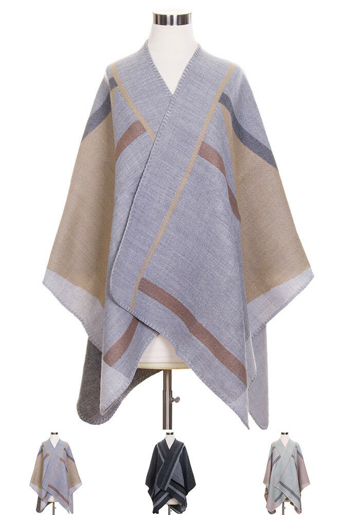 ScarvesMe Women's Women's Women's Geometric Pattern Basic Soft color Cape Shawl ad52de