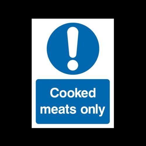 Adesivo-Tutte le Taglie e materiali La carne cotta solo-igiene alimentare-Firmare