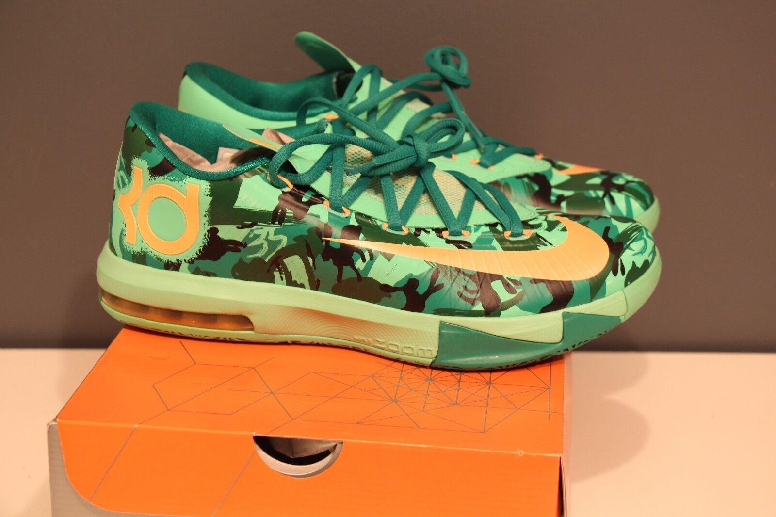 Nike kd vi 6 pasqua lucida verde mimetico nuovo sz 9,5 nuovo mimetico mango atomica scorte morte ddd379
