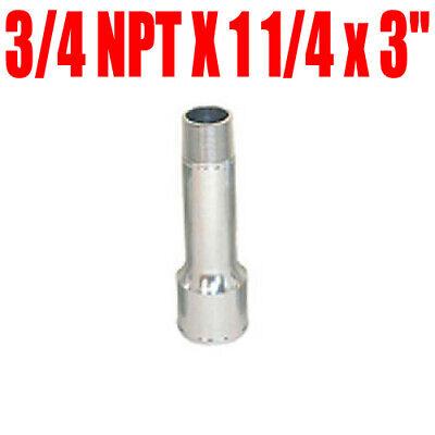 """CSR 906 BILLET WATER PUMP HOSE ADAPTER 3//4 NPT X 1 1//4 x 3/"""" LONG"""