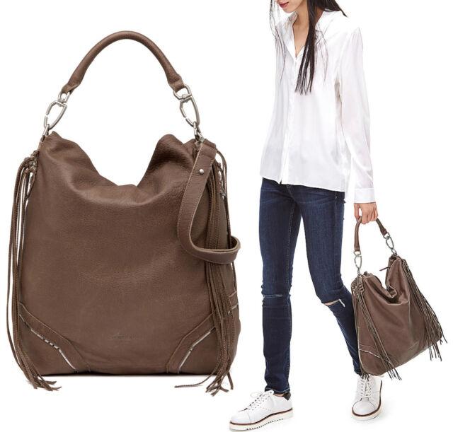 71bd15d637 Liebeskind Berlin Tokio F7 Fringe Leather Hobo Shoulder Bag in RHINO BROWN   398