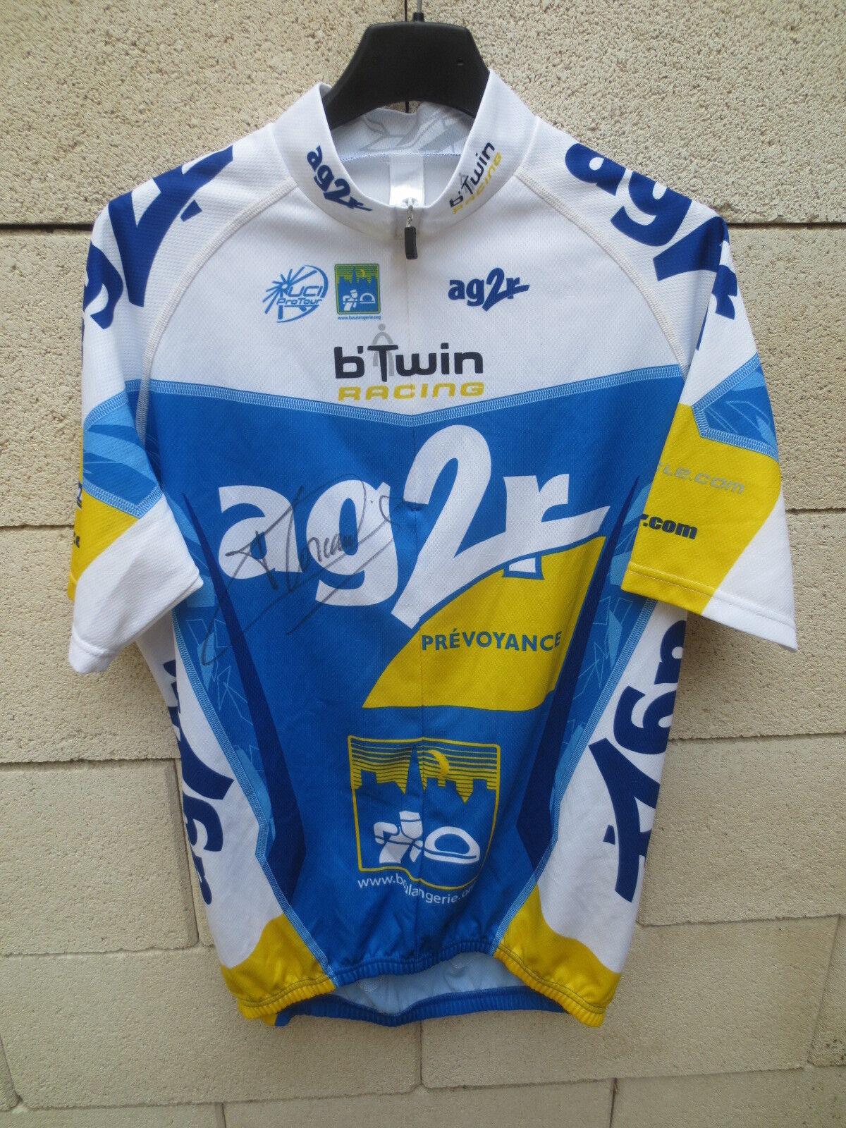 Maillot cycliste AG2R UCI Pro Tour 2007 signé dédicacé Christophe Moreau shirt L