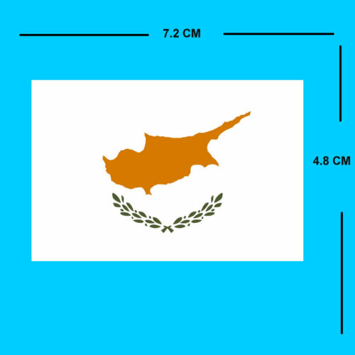 Cyprus FLAG Iron on DIY Screen Print Machine Washable Transfer patch for fabric