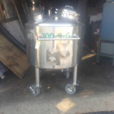 100 Gallon Stainless Steel Jacketed Reactor Made By Walker