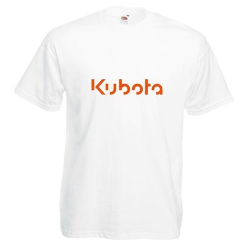 Kubota T-Shirt Tractor Farming Gardening VARIOUS SIZES /& COLOURS