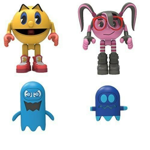 K/'nex Pac-Man 2 Figures Pacman and Cylindria with 2 Ghosts Series 1 Knex