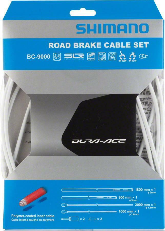 Shimano Dura-Ace 9000 Polymer-Coated Brake Cable Set, White