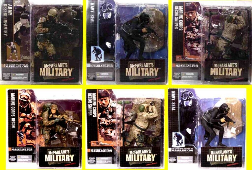 McFarlane Toys Military Series 1 Action Figure Set of 6 action figures Navy Seal