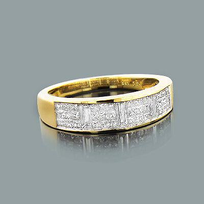 Diamanten Goldschmuck 14 Karat 585er Gelbgold Ringe 0,95 Karat Wesselton H Neu
