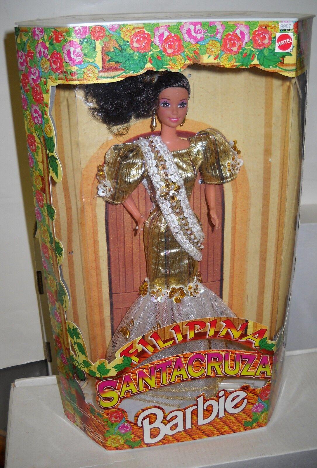 Nunca quitado de la Caja Mattel Filipinas filipina santacruzan Reyna diferentes Barbie