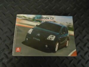 2007 citroen c2 1 6i 16v vts 3dr owners manual hand book ebay rh ebay co uk Citroen C4 Citroen C4