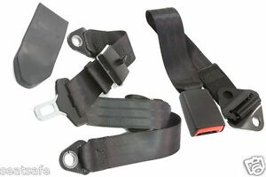 Seatbelt-Early-Model-Holden-Ford-Hotrod-etc-Universal-Fit-Lap-Sash-with-Buckle