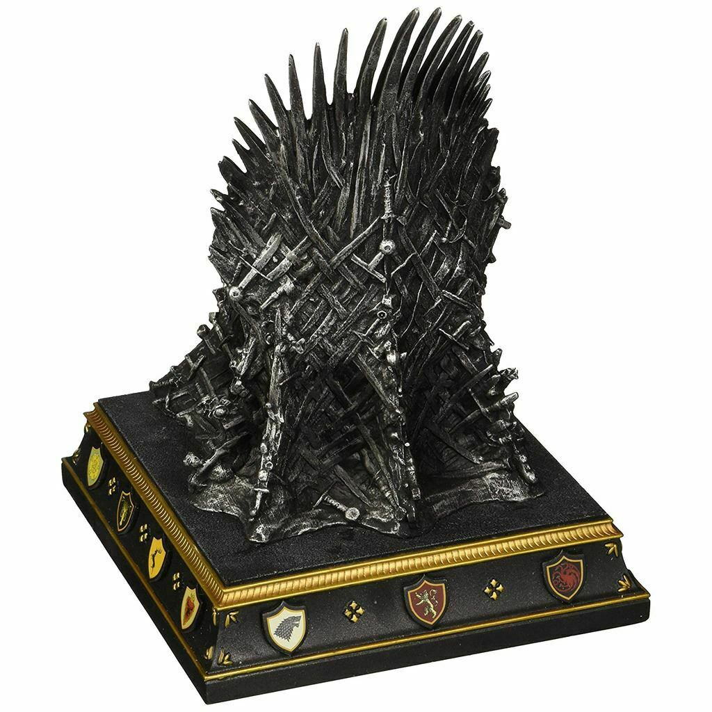Game of Thrones Iron Throne Replica Collectors Bookend - Boxed King of the North