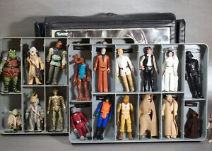 25-VINTAGE-Star-Wars-ACTION-FIGURES-LOT-VINYL-COLLECTORS-CASE-KENNER-figure