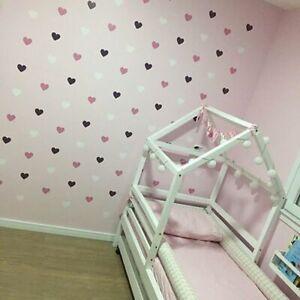 Wall-Sticker-bambini-Cuore-Stanza-Bambina-Stanza-Adesivi-Decorativi-asilo-camera-da-letto