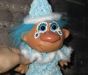 CLOWN-or-Get-Well-TROLL-Doll-7-8-034-ooak-Custom-Birthday-hat-Blue-party-caveman