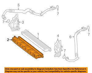 Mercedes Oem 15 18 C63 Amg S 4 0l V8 Engine Oil Cooler Support Frame