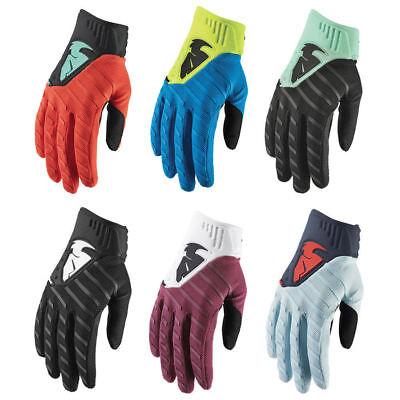 Thor Mens Acid Green//Black Agile Dirt Bike Gloves MX ATV 2019