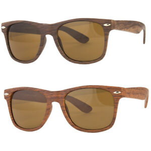 Mens-Womens-Unique-Style-Indie-Fashion-Wood-Print-Retro-Sunglasses-New